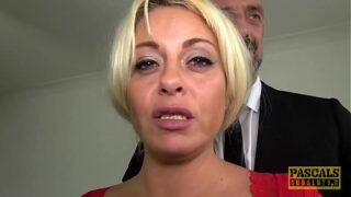 PASCALSSUBSLUTS – MILF Kelly Cummings fed cum after pounding
